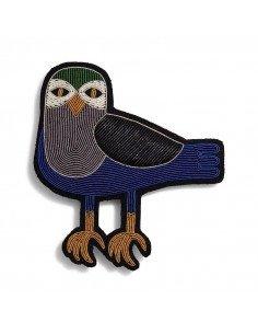 MACON ET LESQUOY Grande Broche Brodée Oiseau de nuit