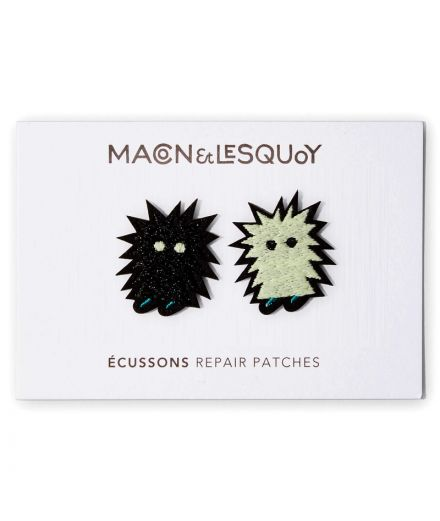 MACON ET LESQUOY mini Écussons patch brodés thermocollants poil