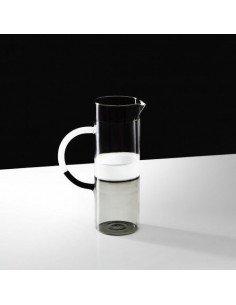 ICHENDORF Pichet Tequila Sunrise gris fumée verre clair et blanc design mist o