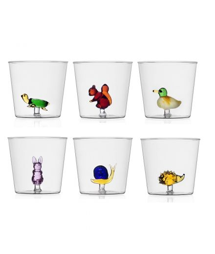 ICHENDORF Collection Animal Farm Design Alessandra Baldereschi gobelet timbale verre tortue