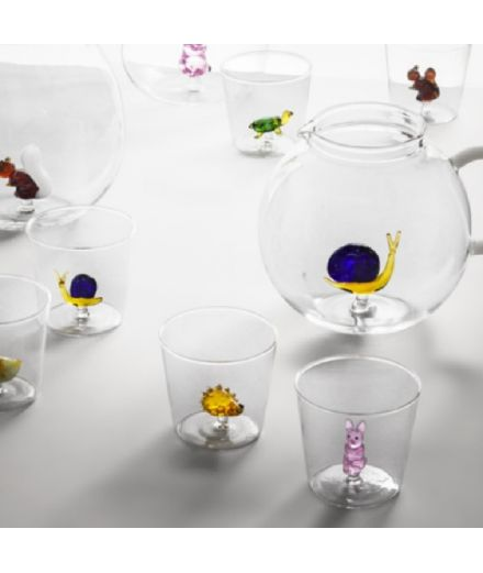 ICHENDORF Collection Animal Farm Design Alessandra Baldereschi gobelet timbale verre écureuil