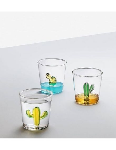 ICHENDORF Collection Desert plants design alessandra baldereschi verre timbale gobelet cactus bleu