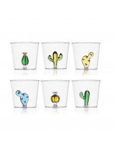 ICHENDORF Collection Desert plants design alessandra baldereschi verre timbale gobelet cactus ambre et vert