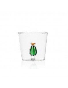 ICHENDORF Collection Desert plants design alessandra baldereschi verre timbale gobelet cactus vert fleur jaune