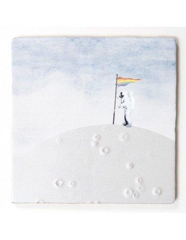 STORYTILES Carreau de céramique faience murale hollande amsterdam peace of mind méditation