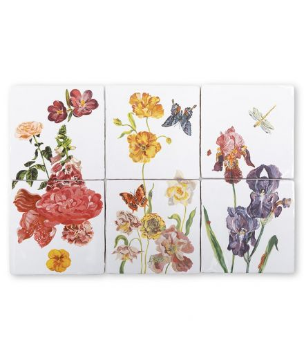 "STORYTILES Carreau de céramique ""Wild Flowers"""