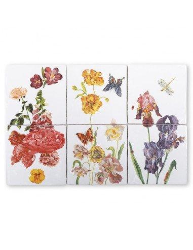 """STORYTILES Carreau de céramique """"Wild Flowers"""""""