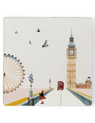 """STORYTILES Carreau de céramique """"Londres en vue"""" Eye on London"""