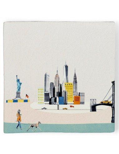 """STORYTILES Carreau de céramique """"New York s'éveille"""""""