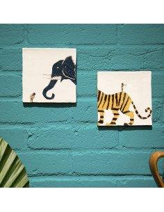 STORYTILES Carreau de céramique Aussi courageux que toi Tigre
