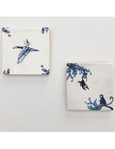 """STORYTILES Carreau de céramique """"Libre comme l'oiseau"""""""