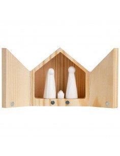 RÄDER DESIGN Boite bois crèche figurines en porcelaine