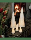 RÄDER DESIGN Sapin lumineux en porcelaine blanche GM