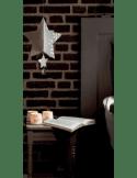 RÄDER DESIGN Photophore porcelaine blanche ombre cerf et biche dorés