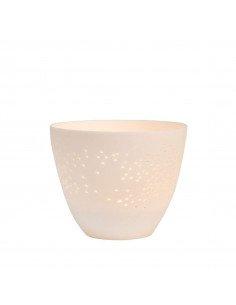 RÄDER DESIGN Photophore porcelaine blanche ciel étoilé