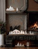RÄDER DESIGN Photophore bois et porcelaine décor village
