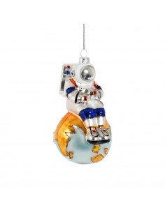 SASS & BELL Boule en verre Astronaute assis sur la Terre