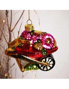 SASS & BELL Boule de Noël en verre Brouette