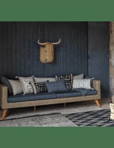 VIVARAISE - Coussin brodé Letty 45x45 bronze