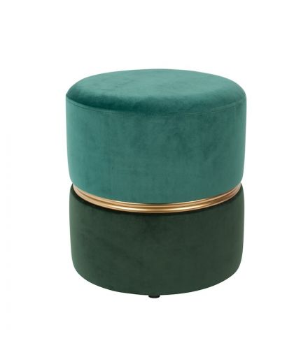 WHITE LABEL LIVING Pouf velours