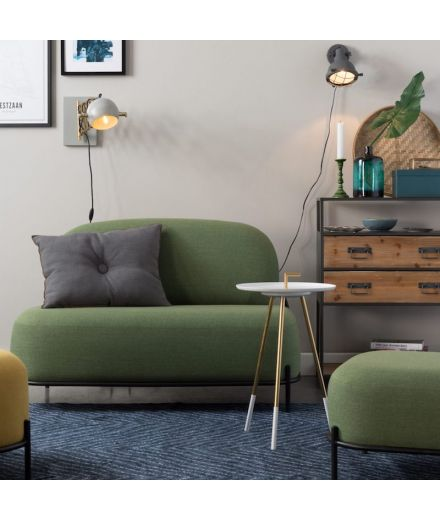 WHITE LABEL LIVING Canapé Polly vert