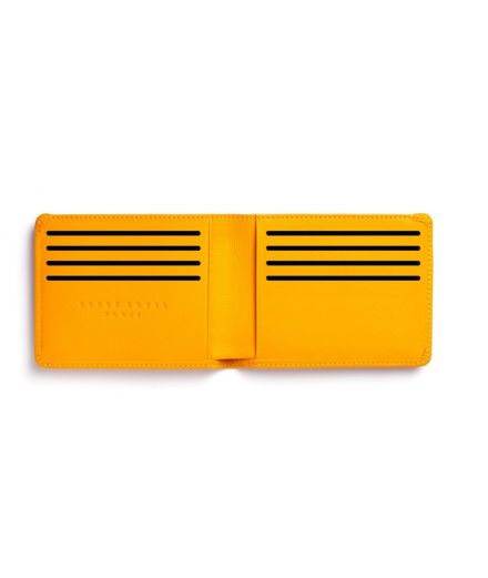 CARRE ROYAL Portefeuille plat jaune