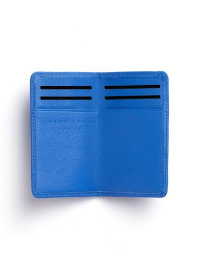 CARRE ROYAL Porte carte plat élastique bleu ciel