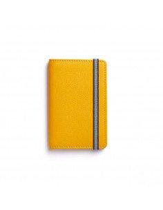 Carré Royal maroquinerie homme femme cuir souple Porte cartes jaune