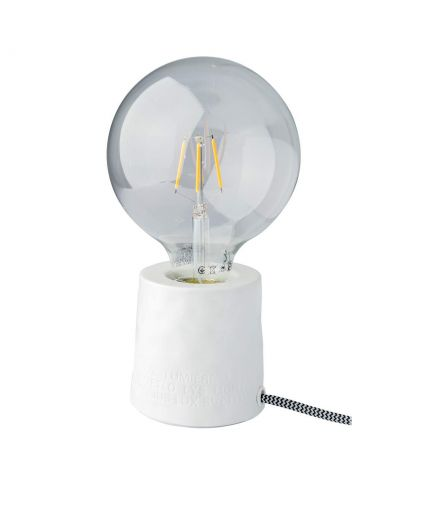 RÄDER DECORATION Lampe en porcelaine blanche