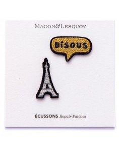 MACON ET LESQUOY Mini écussons Tour Eiffel + bisous