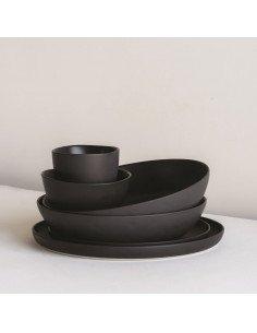 URBAN NATURE CULTURE Ensemble de trois bols Shizu en bois noir