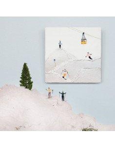 """STORYTILES Carreau de céramique """"Sports d'hiver"""""""