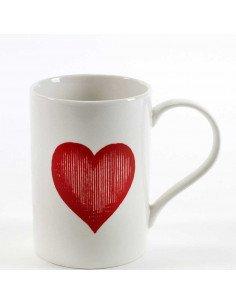 SERAX Mug porcelaine coeur