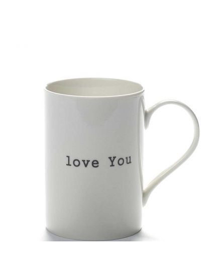 "SERAX Mug porcelaine ""Iove You"""