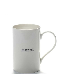"SERAX Mug porcelaine ""merci"""