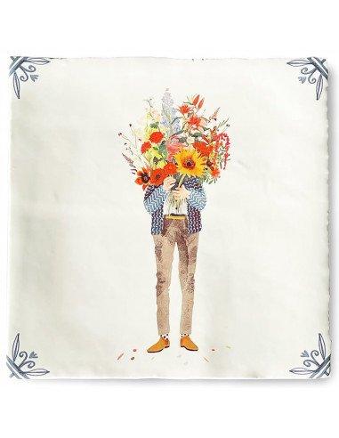 """STORYTILES Carreau de céramique """"Bouquet de fleurs"""""""