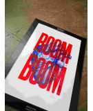 Pappus Editions - Affiche Boom Boom rouge 30x40