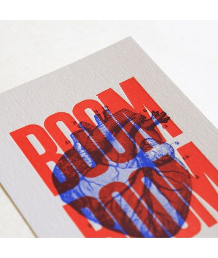 Pappus Editions - Carte Boom Boom rouge