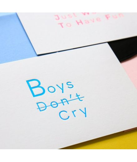 Pappus Editions - Carte Boys don't cry