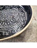 BAZARDELUXE Mini plateau berbère métal noir
