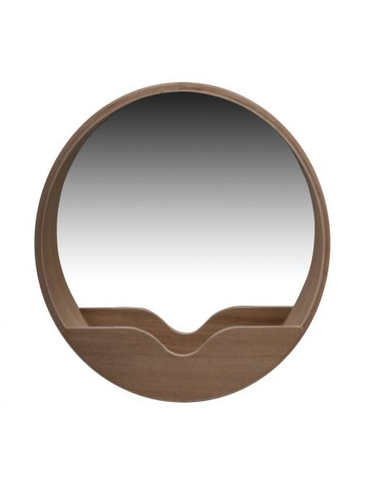 Zuiver Grand miroir rond bois chêne Copenhague