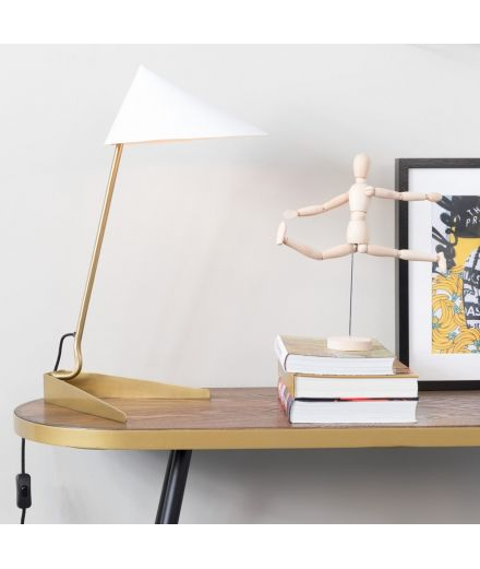 WHITE LABEL LIVING Lampe Lizzy blanche