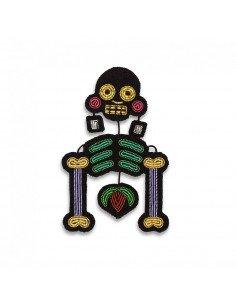 MACON ET LESQUOY Broche brodee squelette mexicain Muerte chic