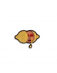 MACON ET LESQUOY Broche brodée Citron acide