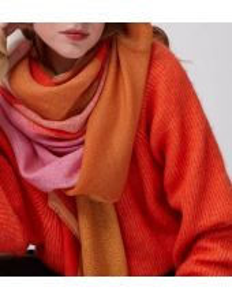 MAPOÉSIE Foulard Fusion orange
