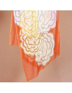 MAPOÉSIE Foulard Camélia orange