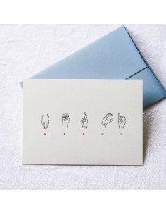 Pappus Editions - Carte Merci en langue des signes