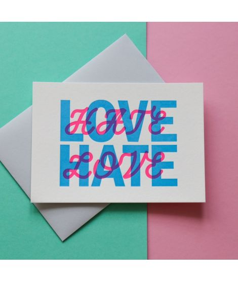 Pappus Editions - Carte Hate Love