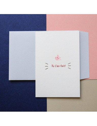 Pappus Editions - Carte Tu l'as fait