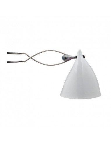 Tsé Tsé Associées lampe Cornette à pince porcelaine blanche